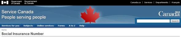 SIN Canada