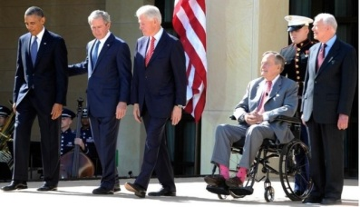 Barack Obama, George W. Bush, Bill Clinton, George H.W. Bush şi Jimmy Carter