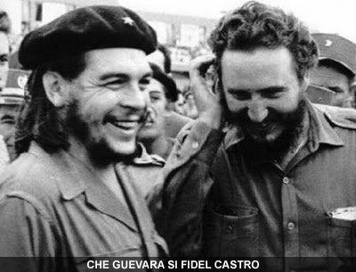 Che Chevara (stanga) si Fidel Castro (dreapta)