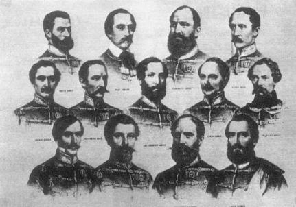 Cei 13 generali executati in Arad