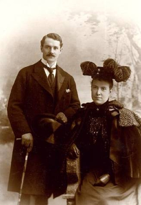 Edith Rockefeller and Harold Fowler McCormick in 1896