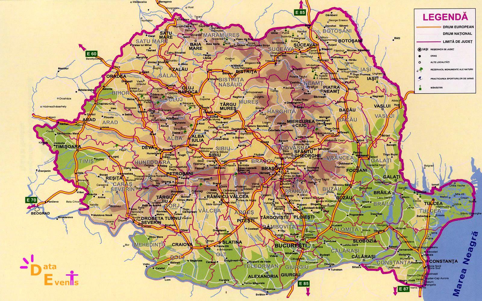 Harta romaniei rutiera detaliata online dating