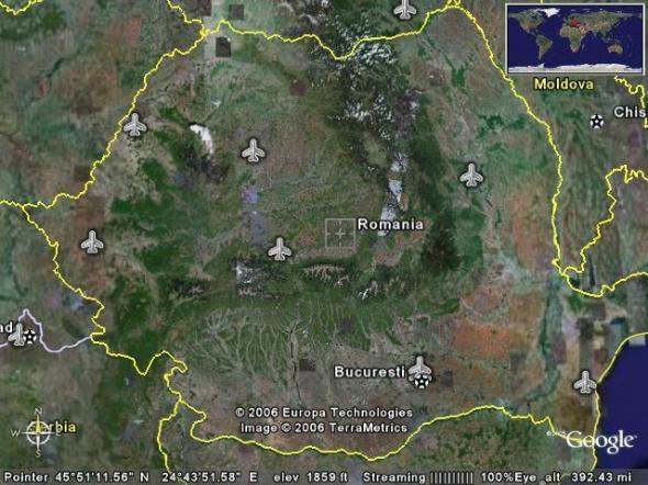 Harta Romaniei Din Satelit In Timp Real Harta