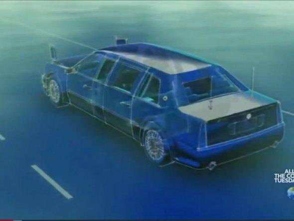 Cadillac One este complet sigilat pentru a putea face faţă unui atac biochimic