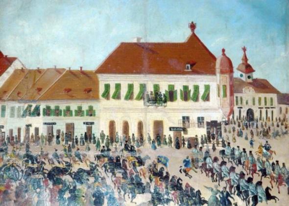 Primaria Aradului (demolata) - tablou 1834