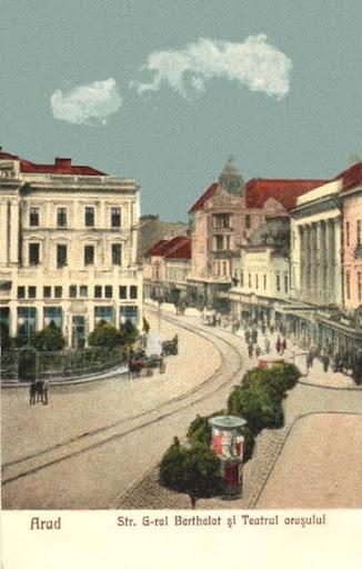 "Teatrul, Palatul ""Bohus"" si Hotel ""Crucea Alba"" - inceputul sec. XX"