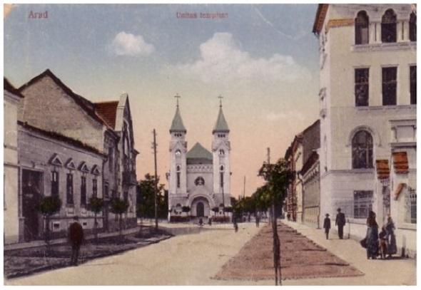Biserica Greco-Catolica, azi Biserica Ortodoxa (Str. Mihai Eminescu) inceputul secolului XX