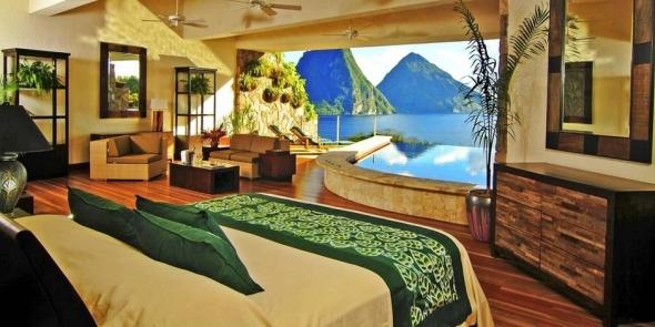 Casa pe muntelui Jade în St. Lucia.