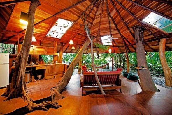 Casa din copac din Costa Rica.
