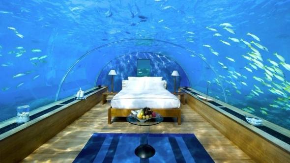 Hotel subacvatic din Maldive.