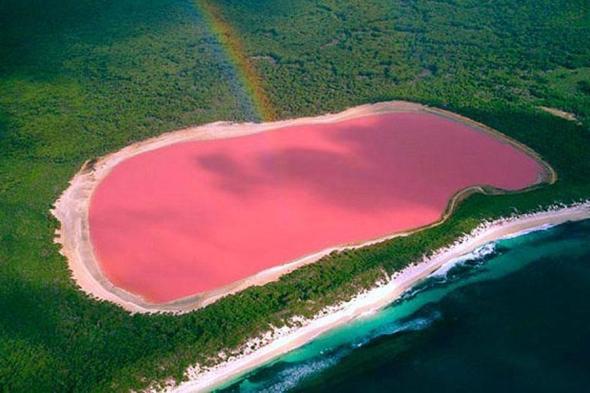 Lacul Hillier, vestul Australiei: vă vine să credeţi că aşa ceva există în realitate în arhipelagul Recherche