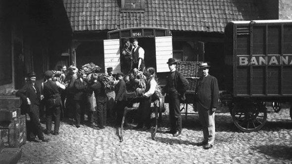 Norvegia primește primul transport de banane, 1905